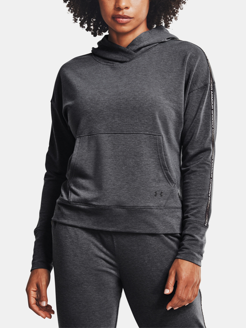 Mikina Under Armour Rival Terry Taped Hoodie-GRY