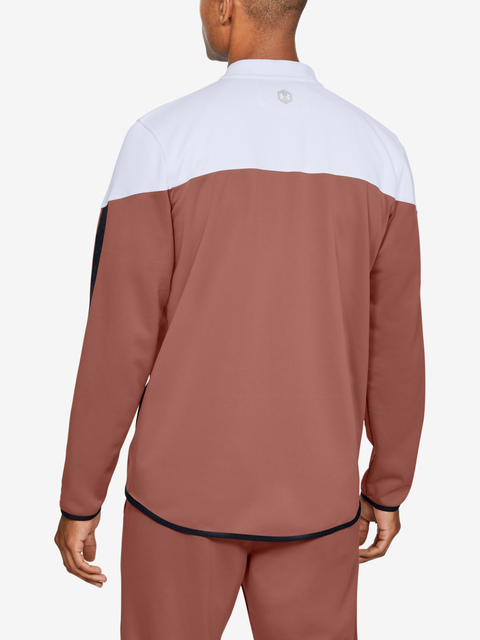 Mikina Under Armour Athlete Recovery Knit Warm Up Top-WHT