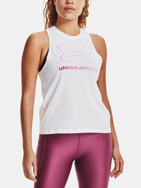 Tílko Under Armour Live Sportstyle Graphic Tank-WHT