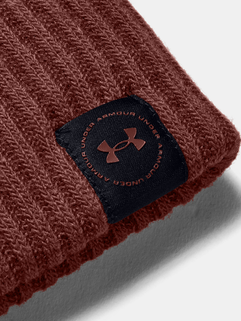 Čepice Under Armour UA Big Logo Pom Beanie-RED
