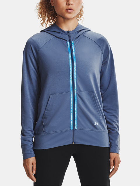 Mikina Under Armour Rival Terry Taped FZ Hoodie-BLU