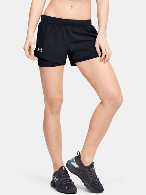 Kraťasy Under Armour W  Fly By 2.0 Mini 2-in-1 Short-BLK