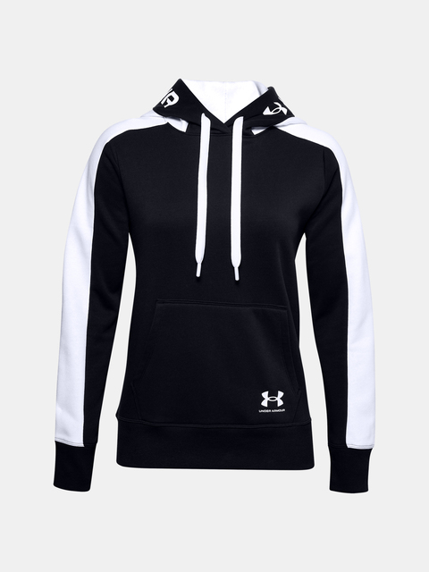 Mikina Under Armour Rival Flece Grphic CB Hoodie-BLK