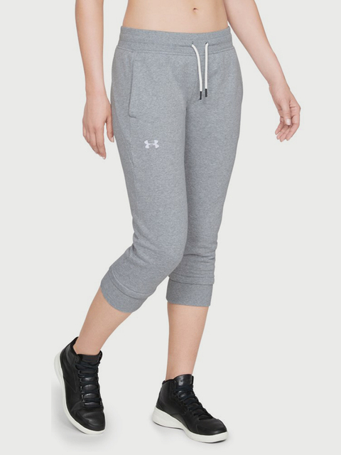 Tepláky Under Armour Cotton Fleece Slim leg Crop