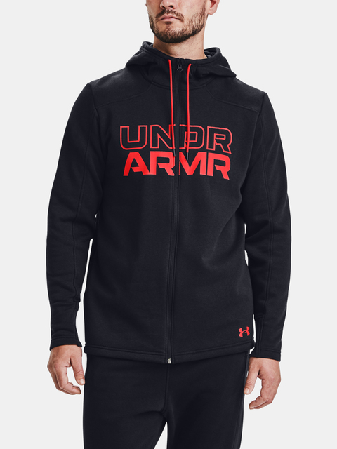 Mikina Under Armour BASELINE FULL ZIP HOODIE-BLK