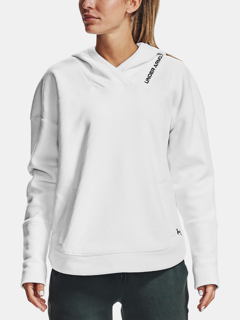 Mikina Under Armour Recover Fleece Hoodie-WHT