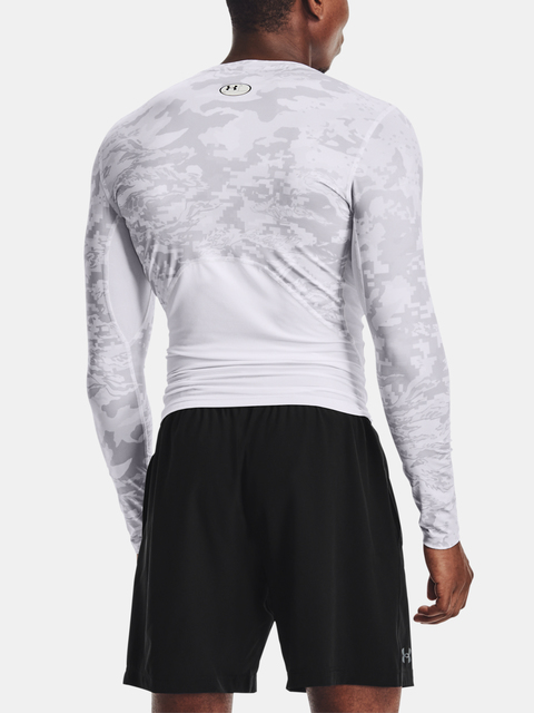 Tričko Under Armour HG Armour Camo Comp  LS-WHT