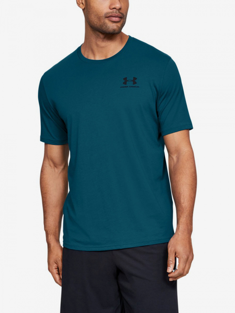 Tričko Under Armour Sportstyle Left Chest Ss-Grn