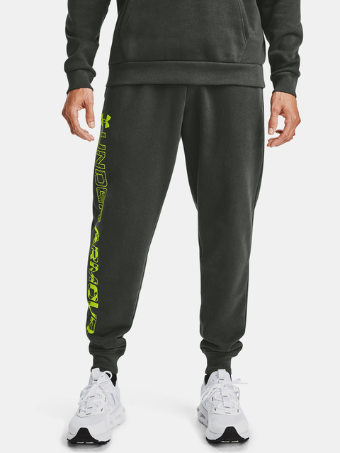 Tepláky Under Armour Rival Flc Graphic Joggers-GRN