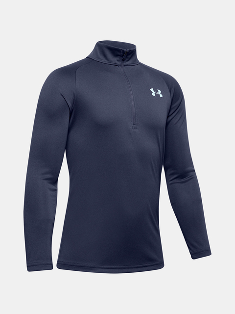 Tričko Under Armour TECH 2.0 1/2 ZIP-BLU