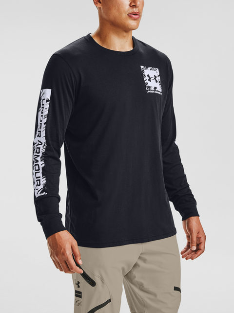 Tričko Under Armour UA BOX LOGO SKETCH LS-BLK