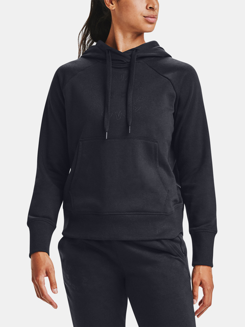 Mikina Under Armour Rival Fleece Metallic Hoodie-BLK
