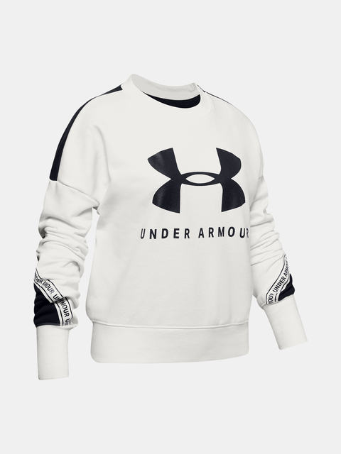 Mikina Under Armour Rival Terry Crew-WHT