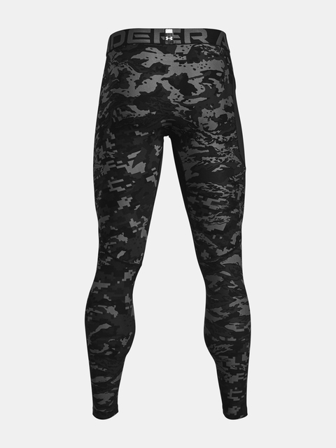 Legíny Under Armour UA HG Armour Camo Lgs-BLK