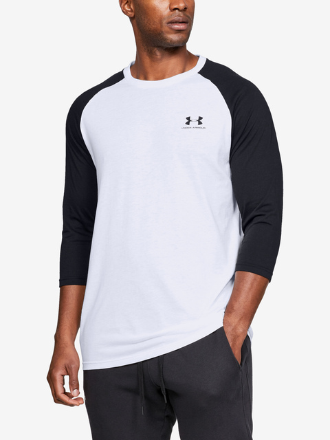 Tričko Under Armour SPORTSTYLE LEFT CHEST 3/4 TEE-WHT