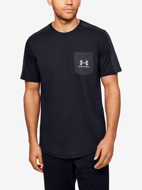 Tričko Under Armour Sportstyle SS-BLK