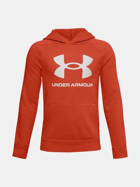 Mikina Under Armour RIVAL FLEECE HOODIE-ORG
