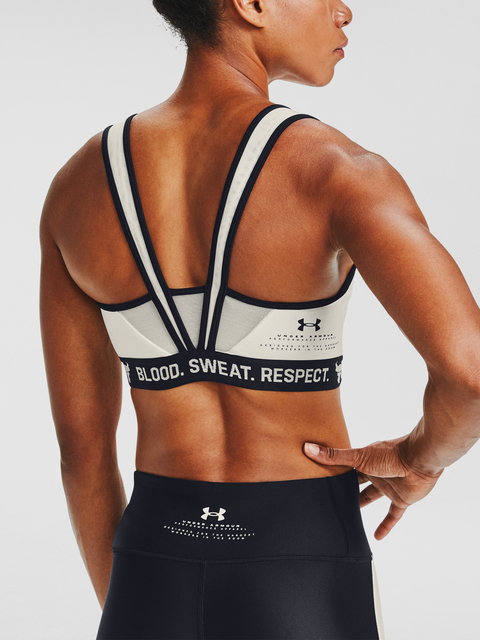 Podprsenka Under Armour Project Rock Bra Solid-WHT