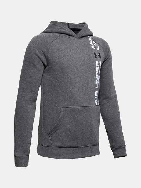 Mikina Under Armour Rival Wordmark Hoody-Blk