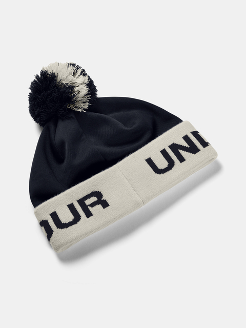 Čepice Under Armour Boy's Gametime Pom Beanie-BLK