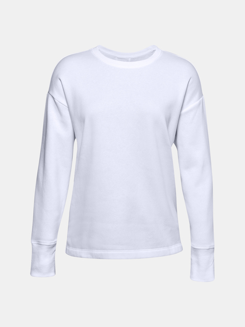 Mikina Under Armour UA Rival Fleece EMB Crew-WHT