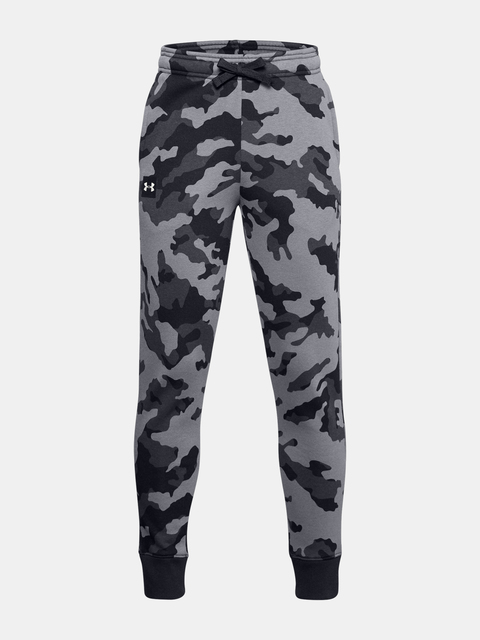 Tepláky Under Armour UA RIVAL FLEECE PRTD JOGGERS-BLK