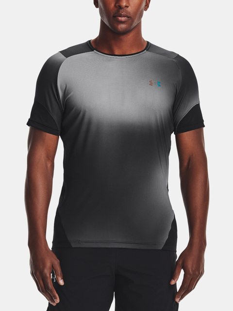 Tričko Under Armour  HG Rush 2.0 Print SS-BLK