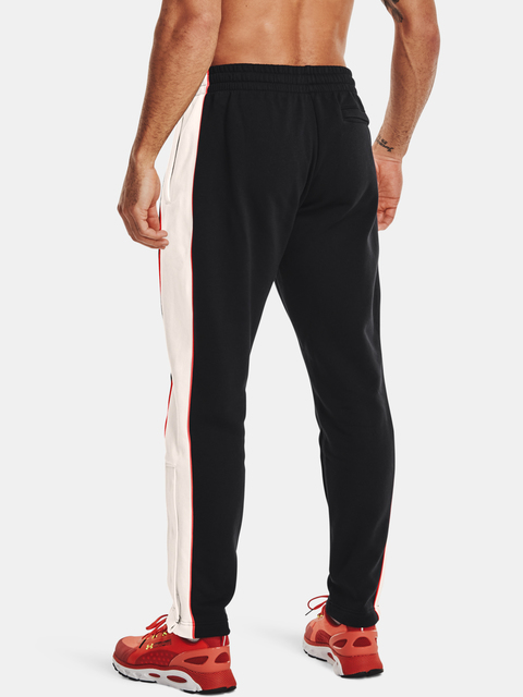 Kalhoty Under Armour  RIVAL FLC AMP SNAP PANT-BLK