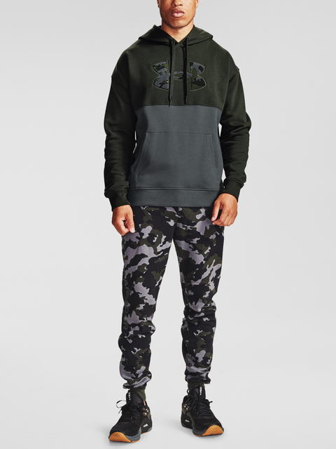 Tepláky Under Armour Rival Fleece Camo Joggers-GRN