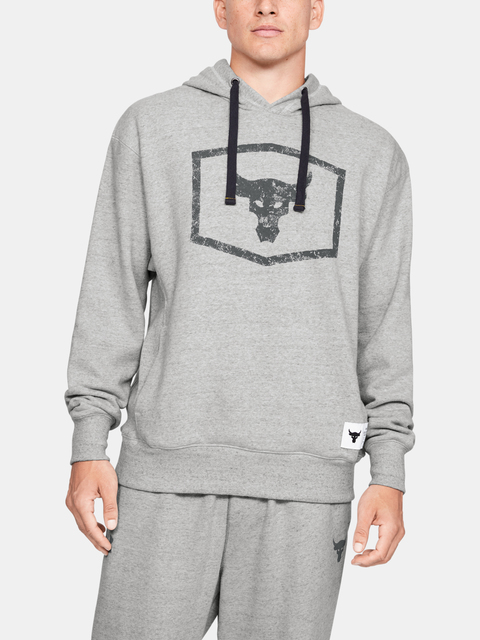 Mikina Under Armour Project Rock Warmup Top-Gry