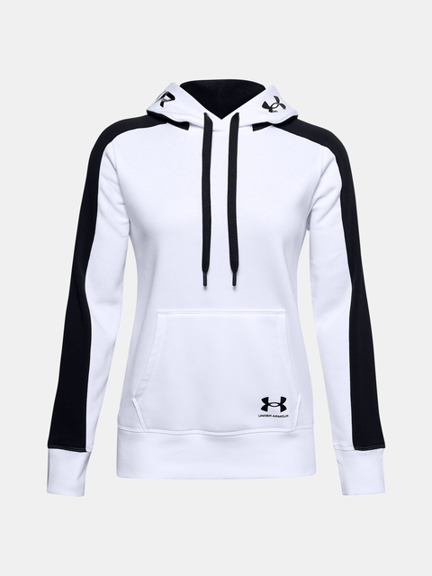 Mikina Under Armour Rival Flece Grphic CB Hoodie-WHT