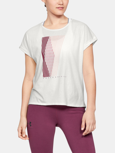 Tričko Under Armour GRAPHIC ENTWINED FASHION SSC-WHT