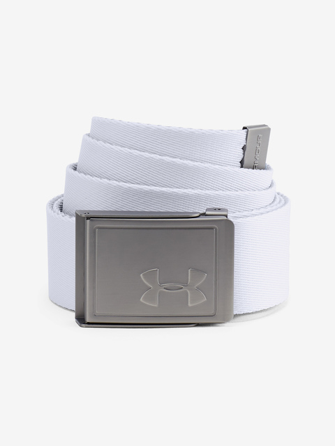 Pásek Under Armour Men's Webbing 2.0 Belt-WHT
