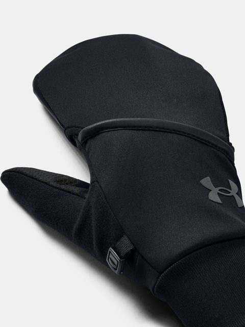 Rukavice Under Armour UA M Convertible Run Gloves-BLK