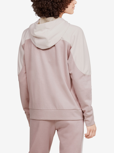 Mikina Under Armour Recover Knit FZ Hoodie-PNK