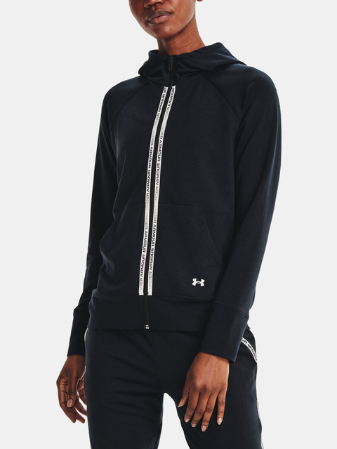 Mikina Under Armour Rival Terry Taped FZ Hoodie-BLK