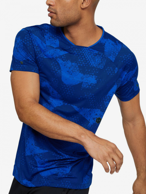 Tričko Under Armour Hg Rush Fitted Ss-Blu