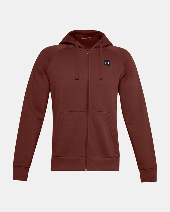 Mikina Under Armour UA Rival Fleece FZ Hoodie-RED