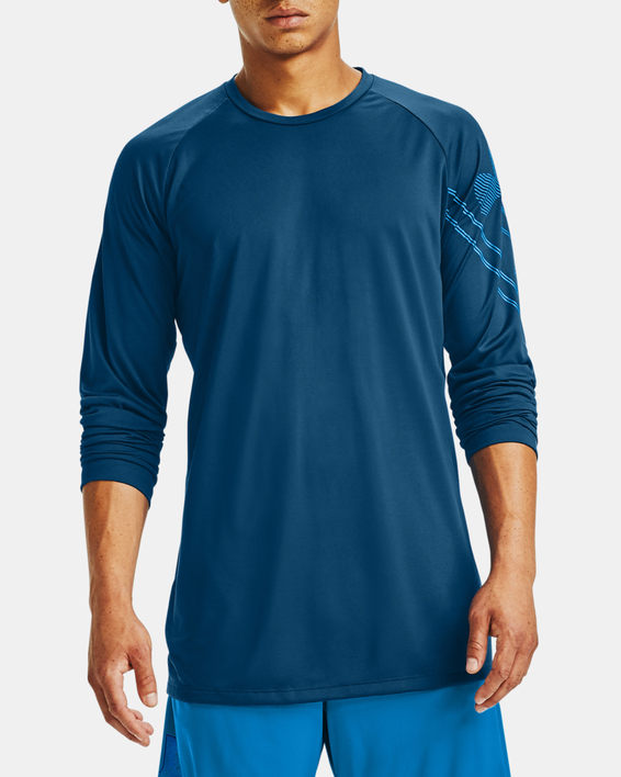 Tričko Under Armour GRADIENT LOGO TECH LS-BLU