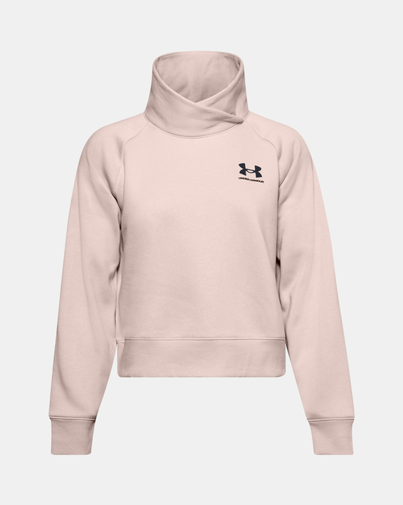 Mikina Under Armour Rival Fleece Wrap Neck PO-BRN