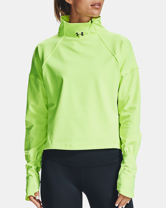 Tričko Under Armour CG Rush 1/2 Zip-GRN