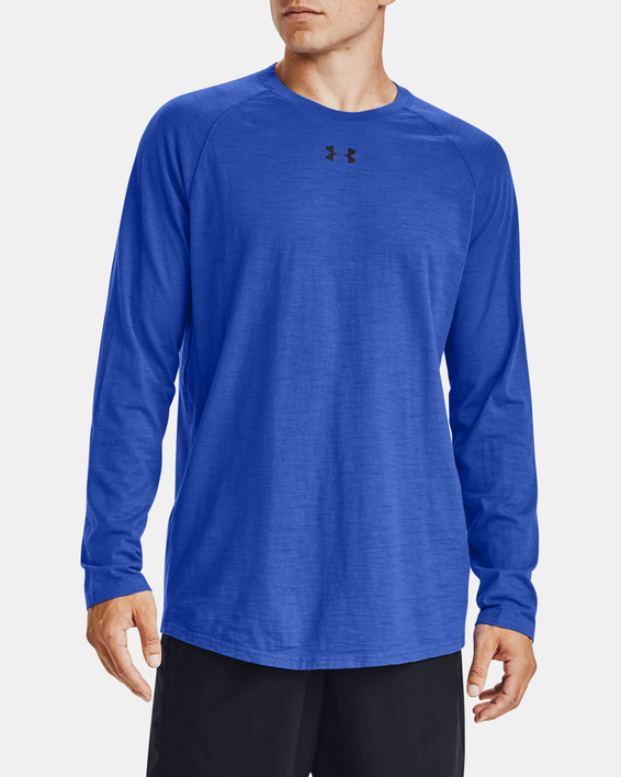 Tričko Under Armour Charged Cotton LS-BLU