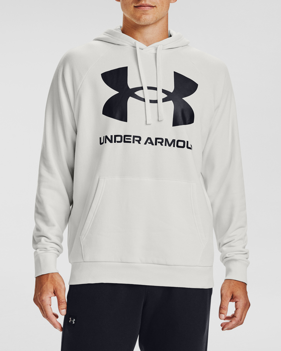 Mikina Under Armour Rival Fleece Big Logo HD-WHT