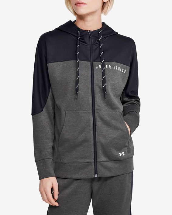 Mikina Under Armour Recover Knit FZ Hoodie-GRY