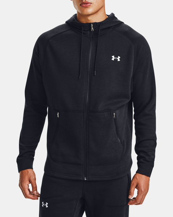 Mikina Under Armour Charged Cotton FLC FZ HD-BLK