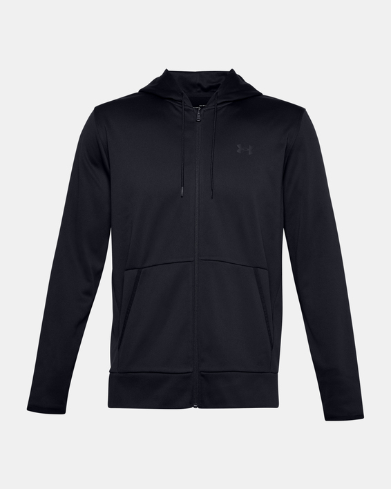 Mikina Under Armour UA Armour Fleece FZ Hoodie-BLK