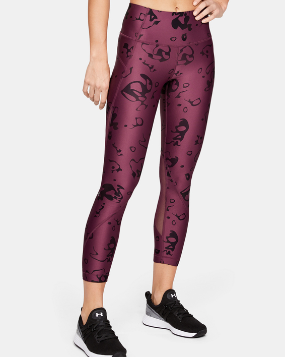 Legíny Under Armour HG Armour Ankle Crop - Ako Print-Purp