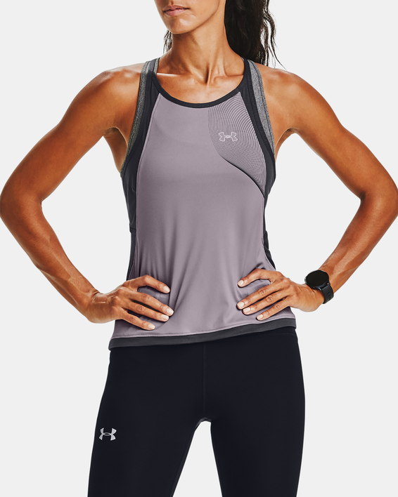 Tílko Under Armour W  Qlifier ISO-CHILL Tank-PPL