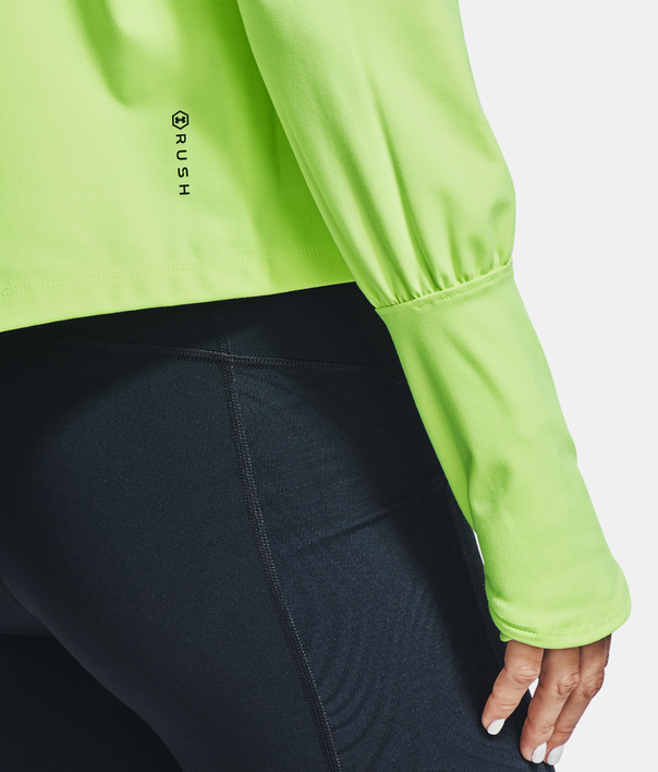 Tričko Under Armour CG Rush 1/2 Zip-GRN (6)