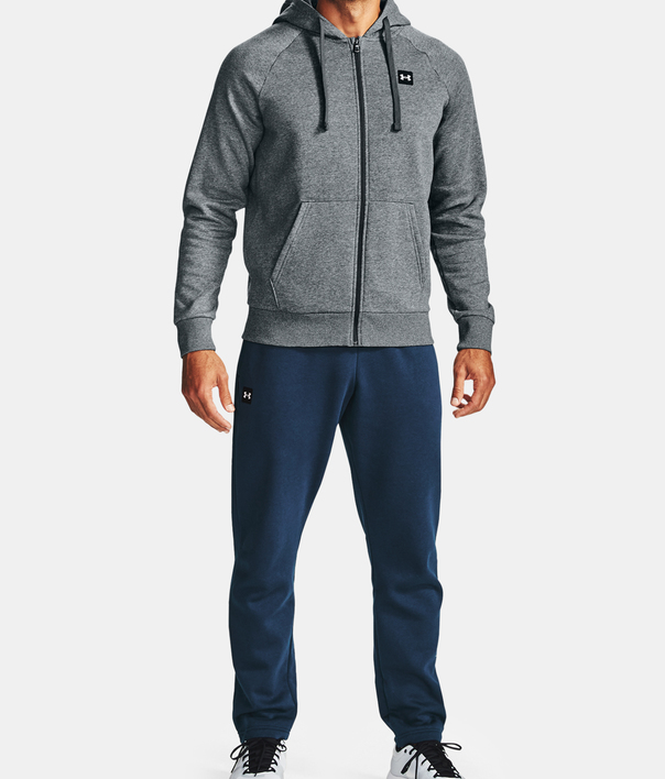 Mikina Under Armour UA Rival Fleece FZ Hoodie-GRY (3)